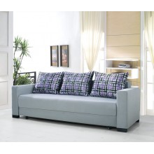 Sofa Bed 3 Seater with 3 Pillows Hardwood Durable Frame Convertible Easily Various Colors