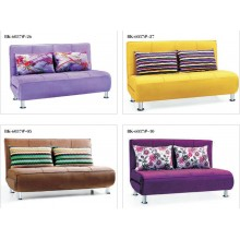 Sofa Bed 2 Seater with 2 Pillows Iron Durable Frame Convertible Easily 2 Specifications Various Colors