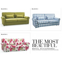 Sofa Bed 2 Seater with 2 Pillows Iron Durable Frame Convertible Easily