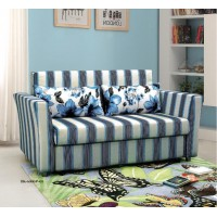 Sofa Bed 2 Seater with 2 Pillows Hardwood Durable Frame Convertible Easily