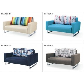 Sofa Bed 2 Seater with 2 Pillows Folding Hardwood Durable Frame Convertible Easily