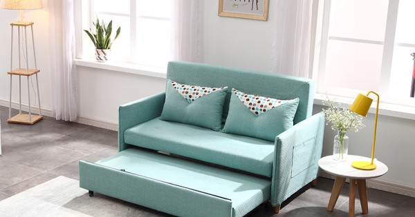Sofa Bed 2 Seater With Pillows