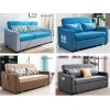 Sofa Bed 2 Seater with 2 Pillows Folding Hardwood Durable Frame Convertible Easily 3 Specifications