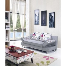 Sofa Bed with 4 Pillows Folding Hardwood and Iron Durable Frame Convertible Easily 2 Colors