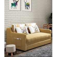 Folding Sofa Chair Sofa Bed Sleeper with 2 Pillows Wooden and Iron Durable Frame Convertible Easily Lazy Stylish Sofa Couch Beds with Pulleys 2 Colors Available in Three Sizes