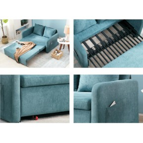 Sleeper Sofabed Foldable Living Room Sofa 1.4 Meters Sofa 1.8 Meters Bed Bedroom Balcony Two Seater Tatami Furniture for Livingroom Chair Bed