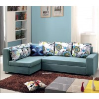Folding Sofa Chair 3 Seater with 5 Pillows Wooden and Iron Durable Frame Convertible Easily Stylish Sofa Couch Daybeds Corner Sofa Bed with Storage Function
